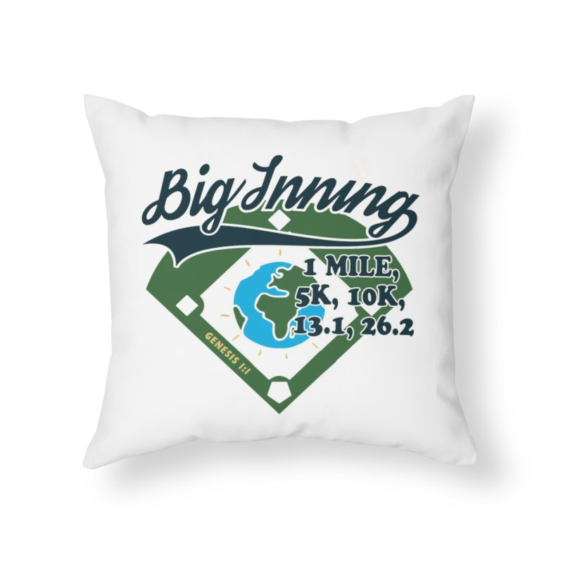In the Big Inning Home Throw Pillow by Moon Joggers's Artist Shop
