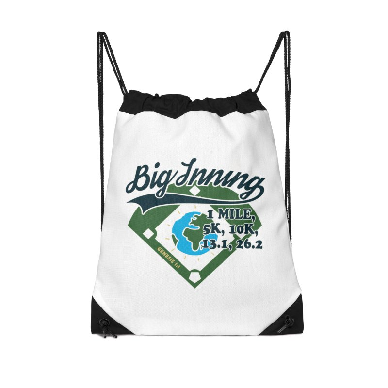 In the Big Inning Accessories Drawstring Bag Bag by Moon Joggers's Artist Shop