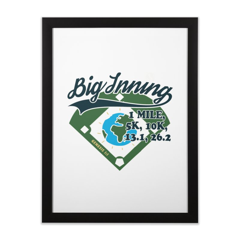In the Big Inning Home Framed Fine Art Print by Moon Joggers's Artist Shop