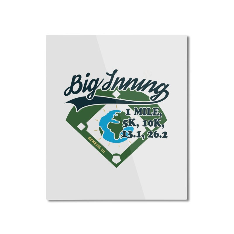 In the Big Inning Home Mounted Aluminum Print by Moon Joggers's Artist Shop