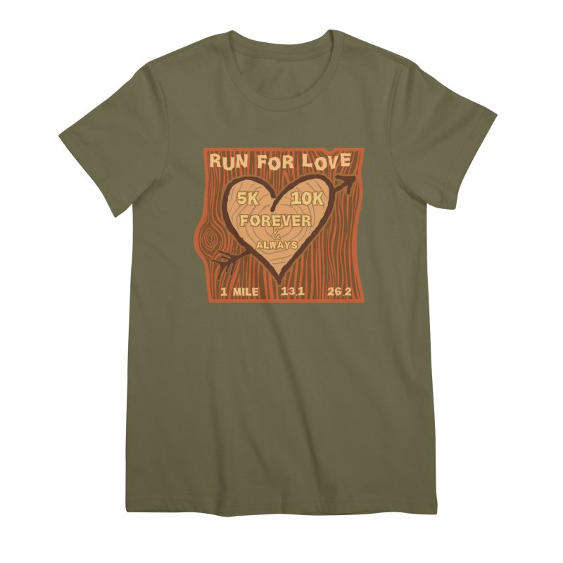 Run 4 Love Women's Premium T-Shirt by Moon Joggers's Artist Shop