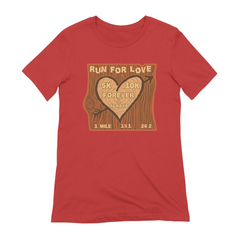 Run 4 Love Women's Extra Soft T-Shirt by Moon Joggers's Artist Shop