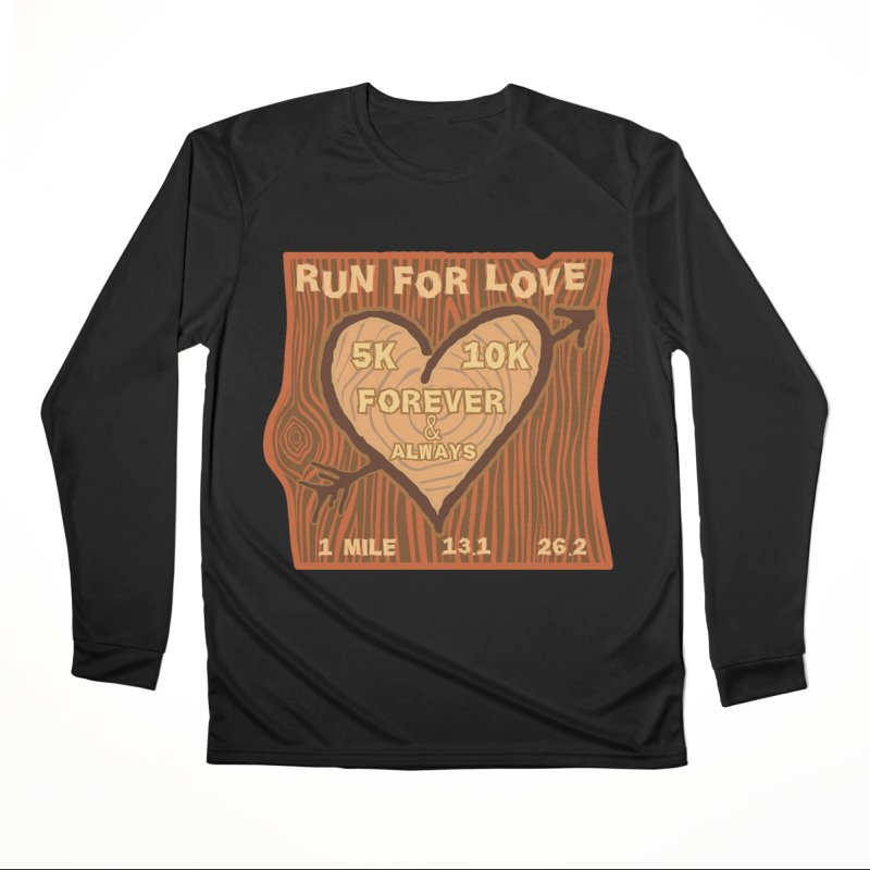 Run 4 Love Men's Performance Longsleeve T-Shirt by Moon Joggers's Artist Shop