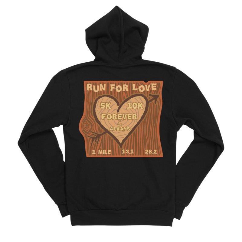 Run 4 Love Women's Sponge Fleece Zip-Up Hoody by Moon Joggers's Artist Shop