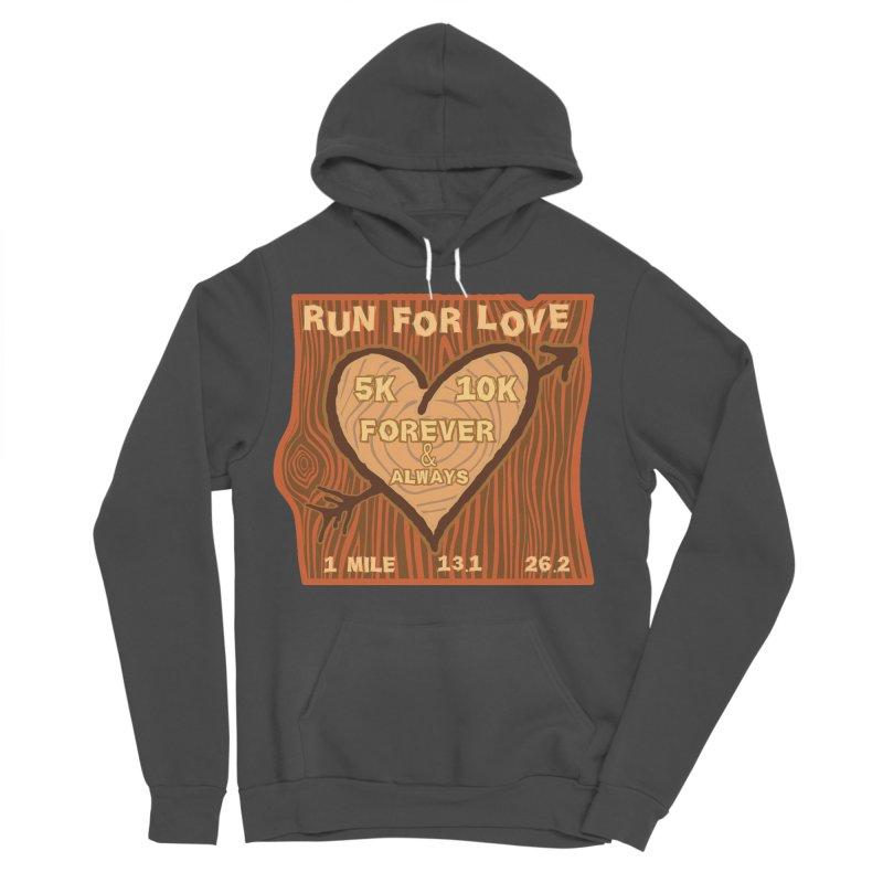 Run 4 Love Men's Sponge Fleece Pullover Hoody by Moon Joggers's Artist Shop