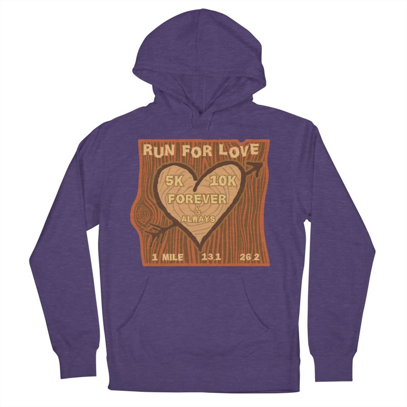 Run 4 Love Men's French Terry Pullover Hoody by Moon Joggers's Artist Shop