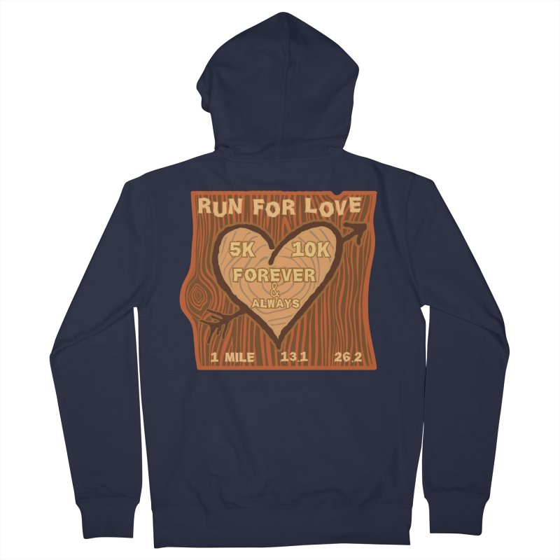 Run 4 Love Men's French Terry Zip-Up Hoody by Moon Joggers's Artist Shop