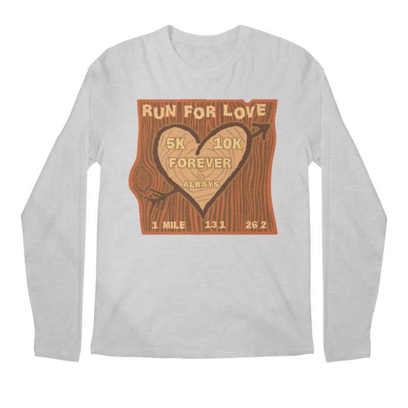 Run 4 Love Men's Regular Longsleeve T-Shirt by Moon Joggers's Artist Shop