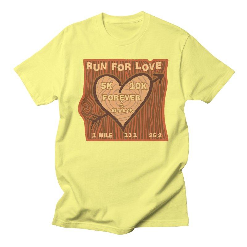 Run 4 Love Men's Regular T-Shirt by Moon Joggers's Artist Shop