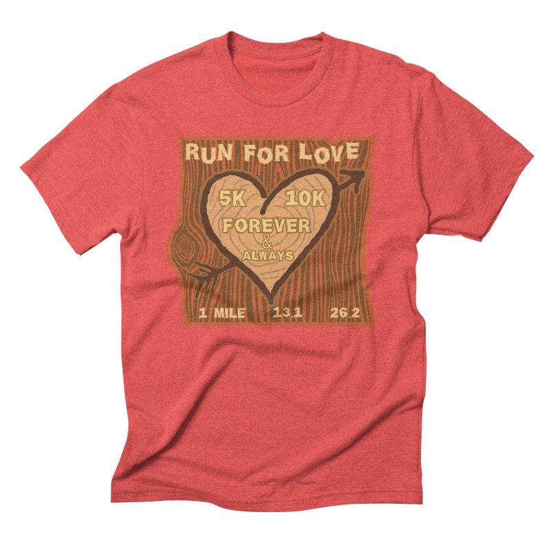 Run 4 Love Men's Triblend T-Shirt by Moon Joggers's Artist Shop