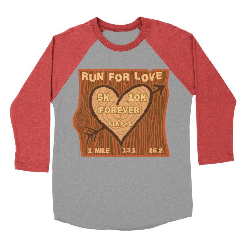 Run 4 Love Men's Baseball Triblend Longsleeve T-Shirt by Moon Joggers's Artist Shop