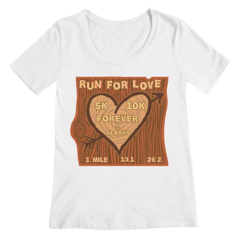 Run 4 Love Women's Regular Scoop Neck by Moon Joggers's Artist Shop