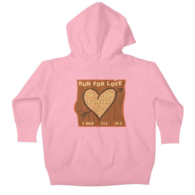 Run 4 Love Kids Baby Zip-Up Hoody by Moon Joggers's Artist Shop