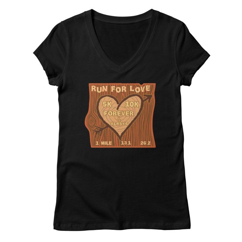 Run 4 Love Women's Regular V-Neck by Moon Joggers's Artist Shop