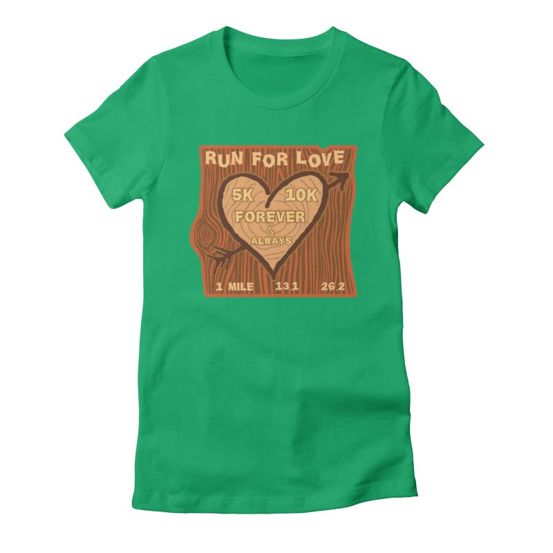Run 4 Love Women's Fitted T-Shirt by Moon Joggers's Artist Shop