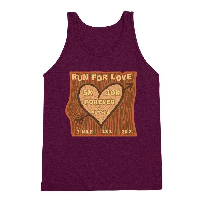 Run 4 Love Men's Triblend Tank by Moon Joggers's Artist Shop