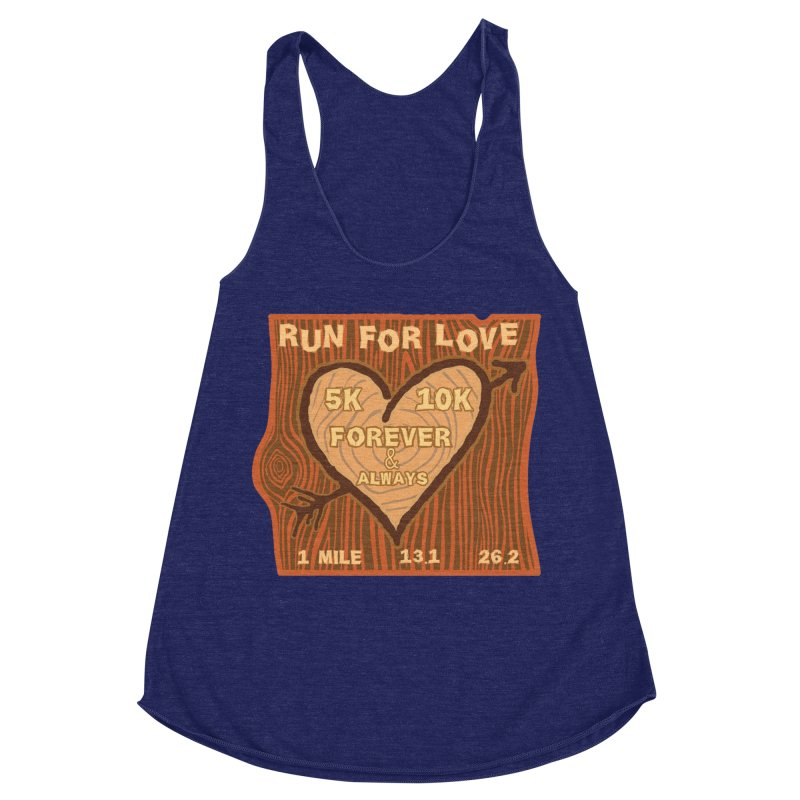 Run 4 Love Women's Racerback Triblend Tank by Moon Joggers's Artist Shop