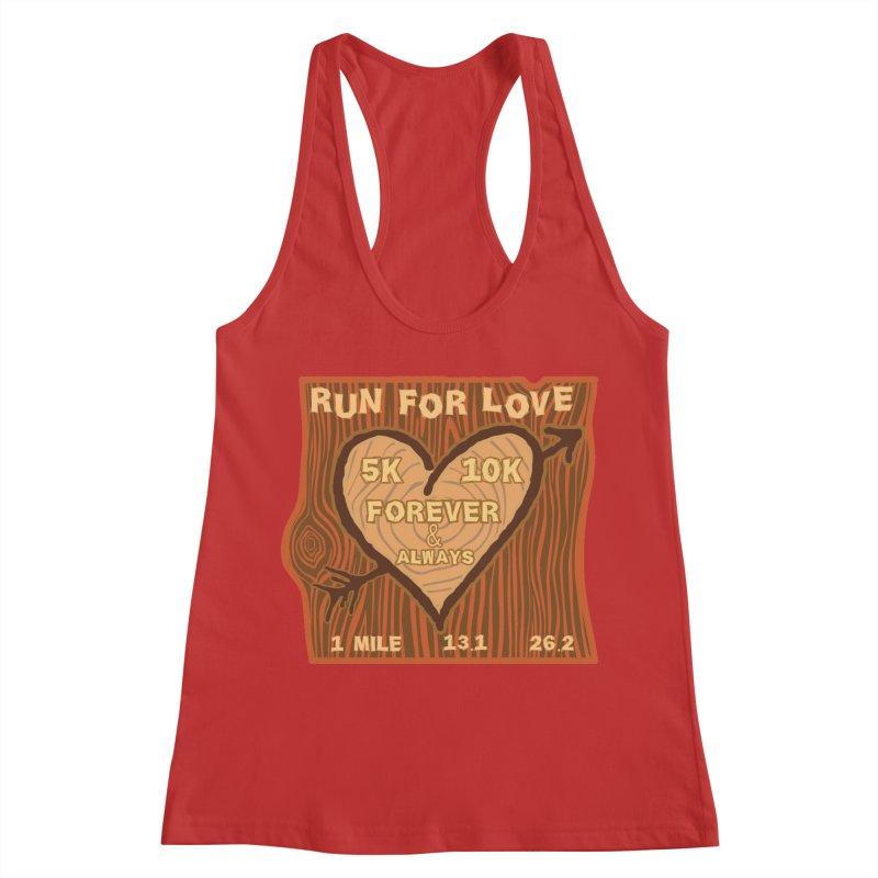 Run 4 Love Women's Racerback Tank by Moon Joggers's Artist Shop