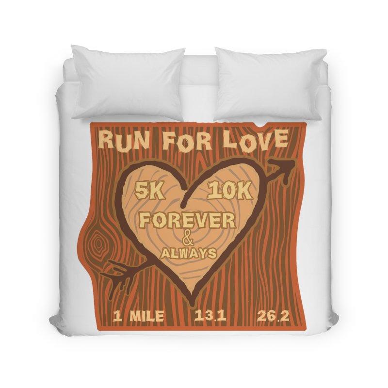 Run 4 Love Home Duvet by Moon Joggers's Artist Shop