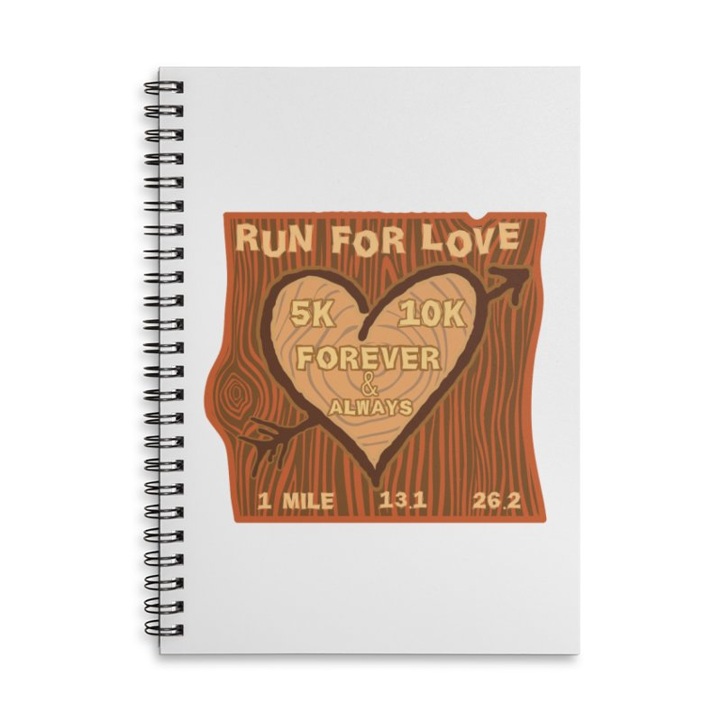 Run 4 Love Accessories Lined Spiral Notebook by Moon Joggers's Artist Shop