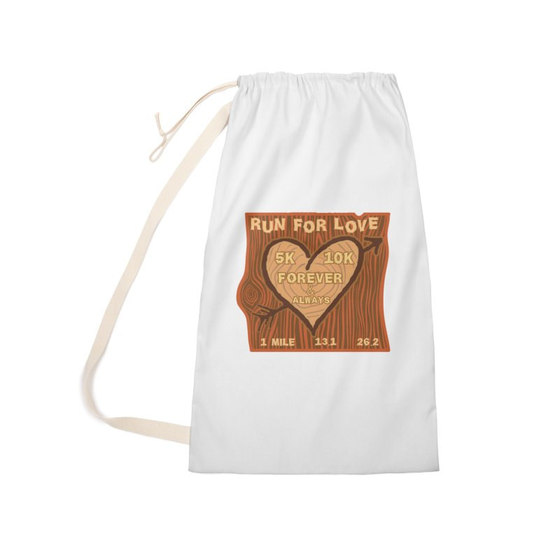 Run 4 Love Accessories Laundry Bag Bag by Moon Joggers's Artist Shop