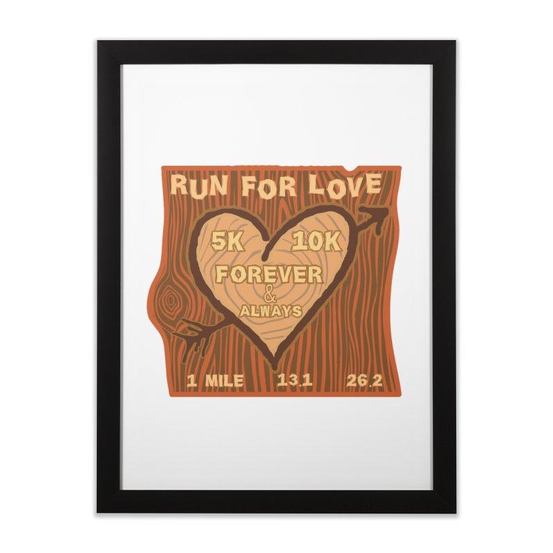 Run 4 Love Home Framed Fine Art Print by Moon Joggers's Artist Shop
