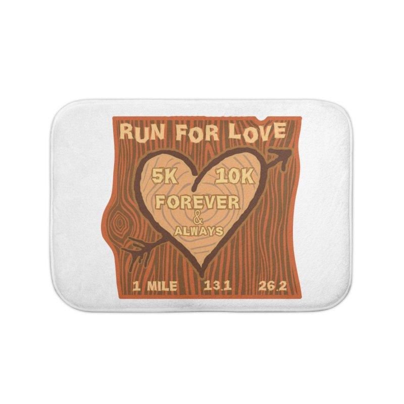 Run 4 Love Home Bath Mat by Moon Joggers's Artist Shop