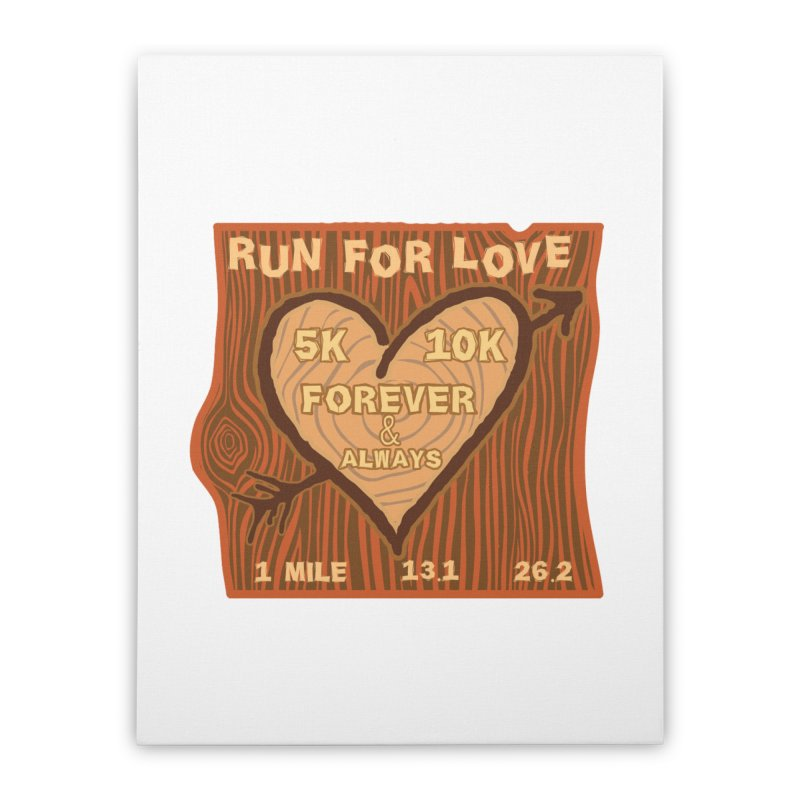 Run 4 Love Home Stretched Canvas by Moon Joggers's Artist Shop