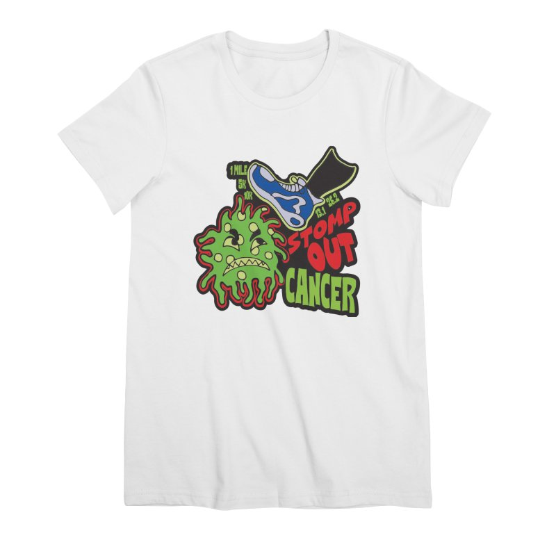 World Cancer Day Stomp Out Cancer! Women's Premium T-Shirt by Moon Joggers's Artist Shop