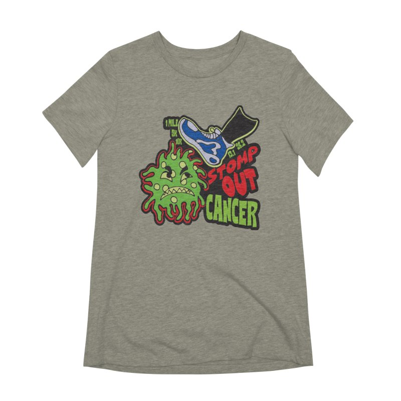 World Cancer Day Stomp Out Cancer! Women's Extra Soft T-Shirt by Moon Joggers's Artist Shop
