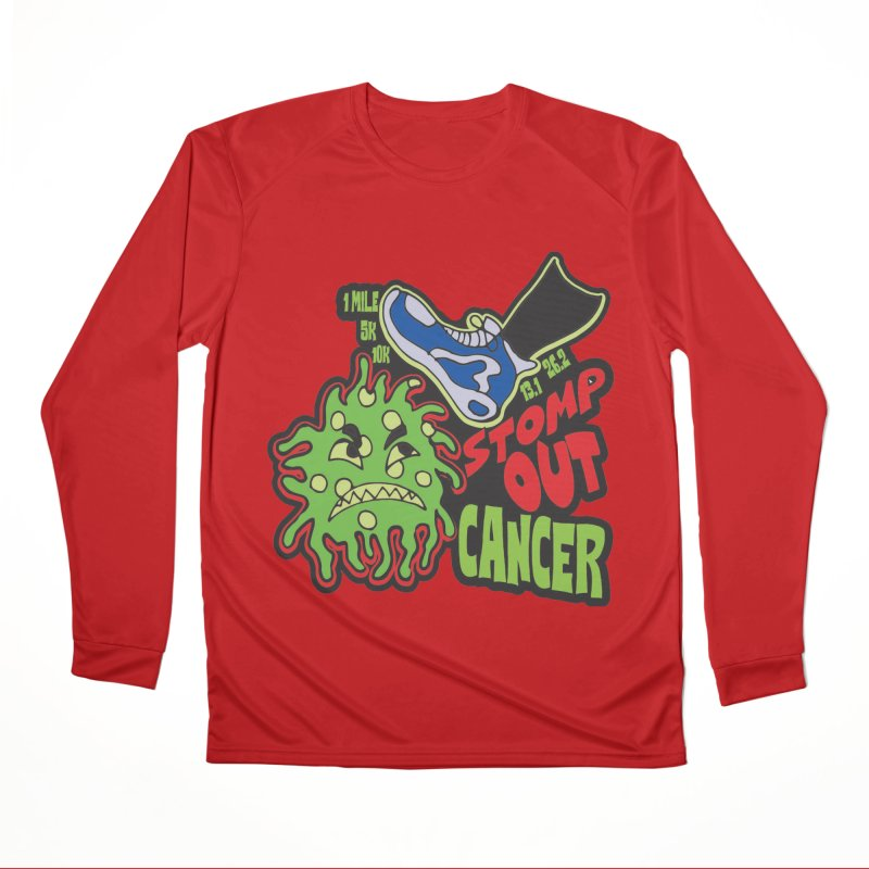 World Cancer Day Stomp Out Cancer! Men's Performance Longsleeve T-Shirt by Moon Joggers's Artist Shop