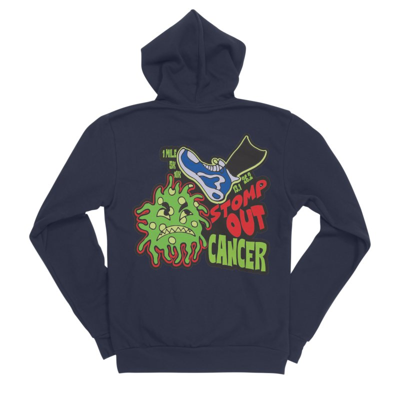 World Cancer Day Stomp Out Cancer! Women's Sponge Fleece Zip-Up Hoody by Moon Joggers's Artist Shop