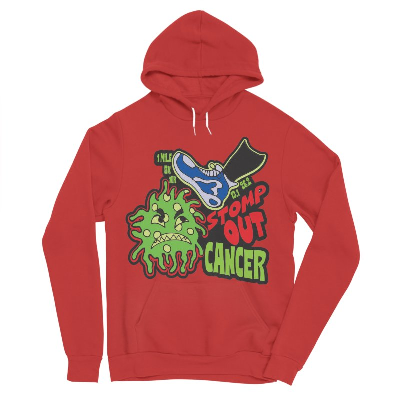 World Cancer Day Stomp Out Cancer! Men's Sponge Fleece Pullover Hoody by Moon Joggers's Artist Shop