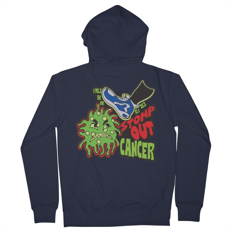 World Cancer Day Stomp Out Cancer! Men's French Terry Zip-Up Hoody by Moon Joggers's Artist Shop