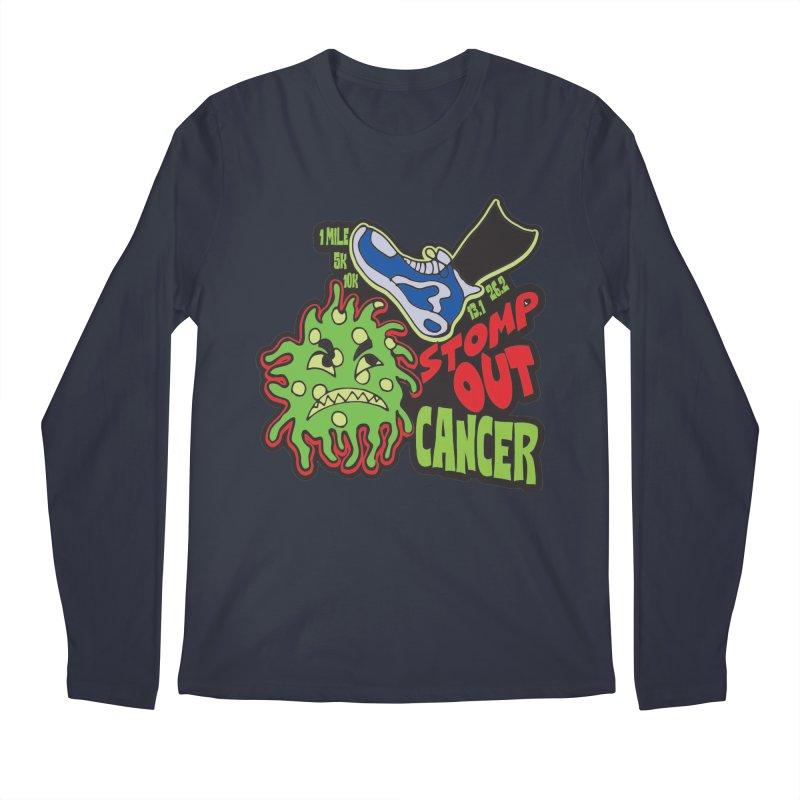 World Cancer Day Stomp Out Cancer! Men's Regular Longsleeve T-Shirt by Moon Joggers's Artist Shop
