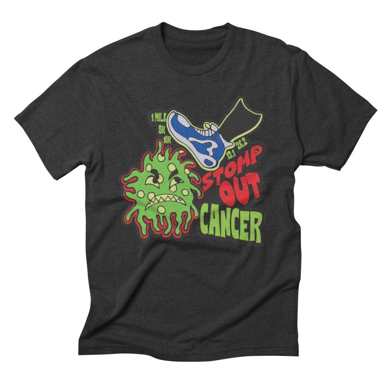 World Cancer Day Stomp Out Cancer! Men's Triblend T-Shirt by Moon Joggers's Artist Shop