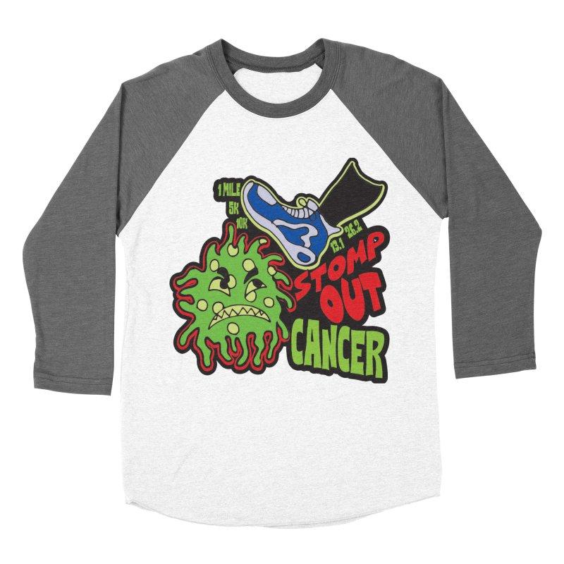 World Cancer Day Stomp Out Cancer! Women's Baseball Triblend Longsleeve T-Shirt by Moon Joggers's Artist Shop