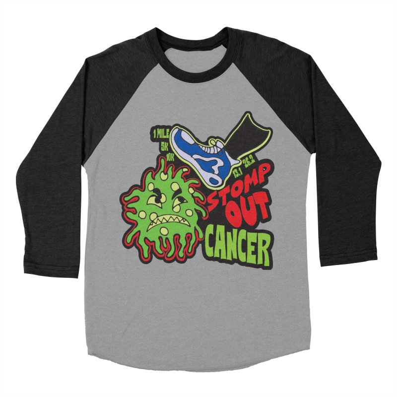 World Cancer Day Stomp Out Cancer! Men's Baseball Triblend Longsleeve T-Shirt by Moon Joggers's Artist Shop