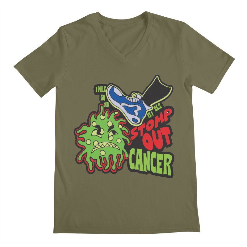 World Cancer Day Stomp Out Cancer! Men's Regular V-Neck by Moon Joggers's Artist Shop