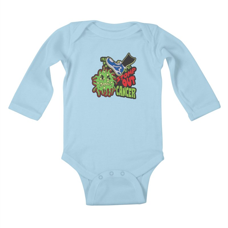 World Cancer Day Stomp Out Cancer! Kids Baby Longsleeve Bodysuit by Moon Joggers's Artist Shop