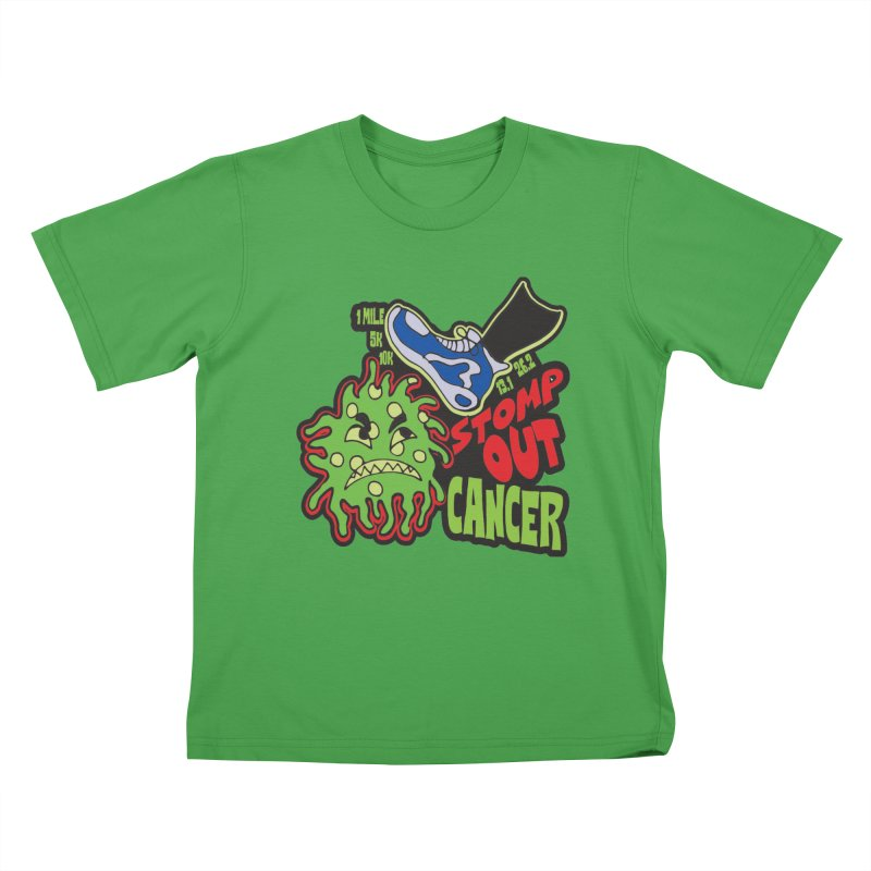 World Cancer Day Stomp Out Cancer! Kids T-Shirt by Moon Joggers's Artist Shop