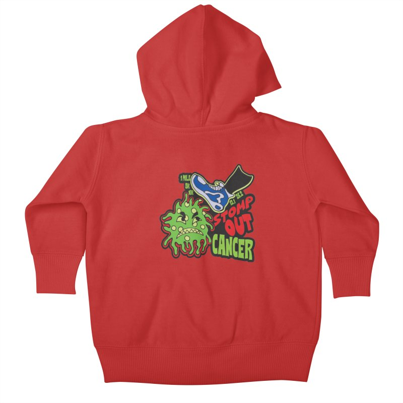 World Cancer Day Stomp Out Cancer! Kids Baby Zip-Up Hoody by Moon Joggers's Artist Shop
