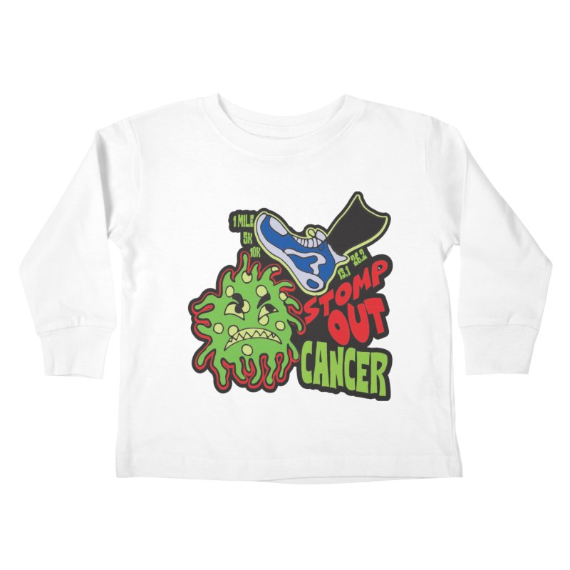 World Cancer Day Stomp Out Cancer! Kids Toddler Longsleeve T-Shirt by Moon Joggers's Artist Shop