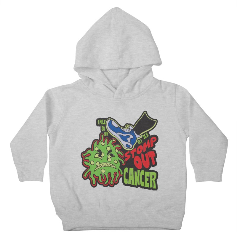 World Cancer Day Stomp Out Cancer! Kids Toddler Pullover Hoody by Moon Joggers's Artist Shop