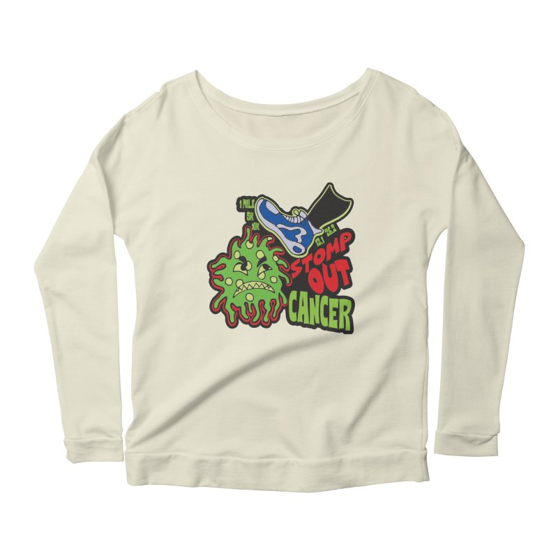 World Cancer Day Stomp Out Cancer! Women's Scoop Neck Longsleeve T-Shirt by Moon Joggers's Artist Shop