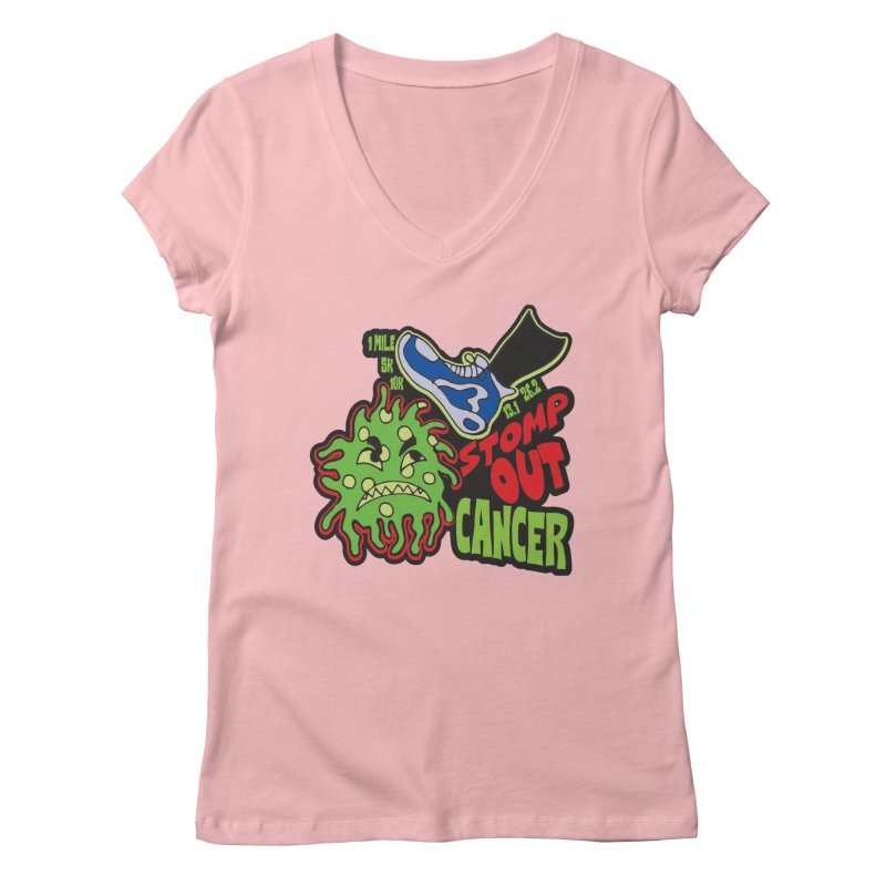 World Cancer Day Stomp Out Cancer! Women's Regular V-Neck by Moon Joggers's Artist Shop