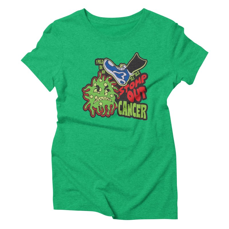 World Cancer Day Stomp Out Cancer! Women's Triblend T-Shirt by Moon Joggers's Artist Shop