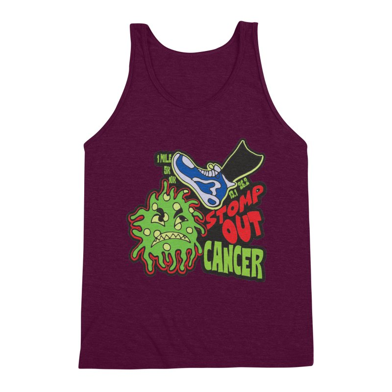 World Cancer Day Stomp Out Cancer! Men's Triblend Tank by Moon Joggers's Artist Shop
