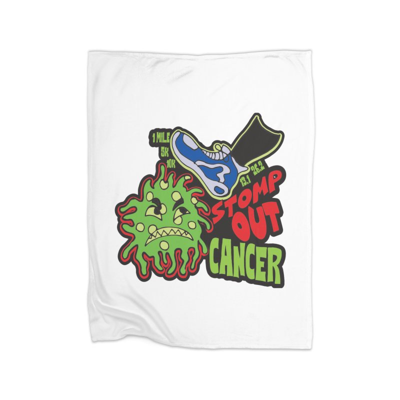 World Cancer Day Stomp Out Cancer! Home Fleece Blanket Blanket by Moon Joggers's Artist Shop
