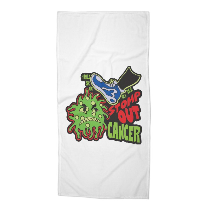 World Cancer Day Stomp Out Cancer! Accessories Beach Towel by Moon Joggers's Artist Shop